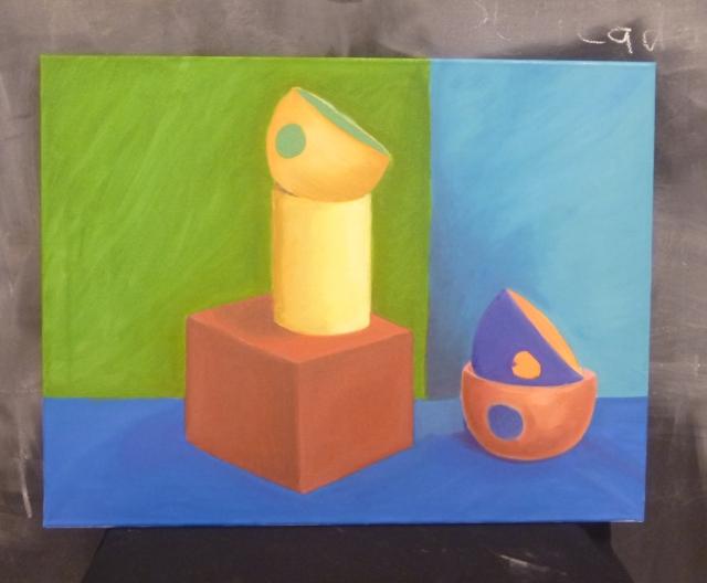 Maika, colores saturados, óleo