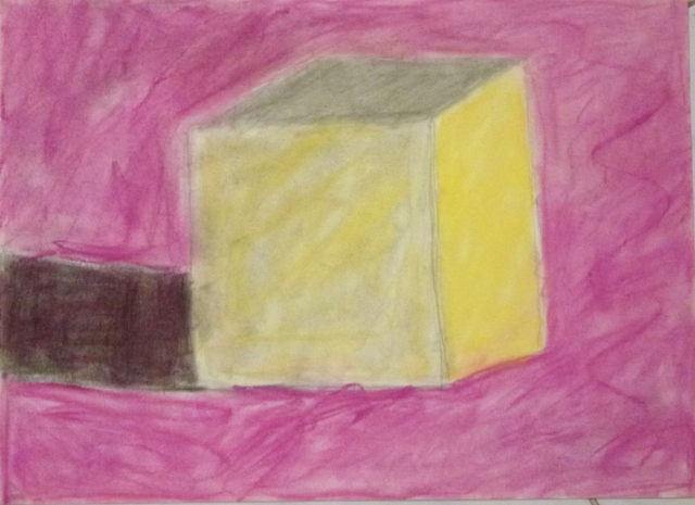 Paula (9) carboncillo y pastel