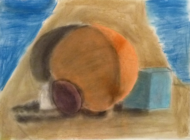 Andrea (9) carboncillo y pastel
