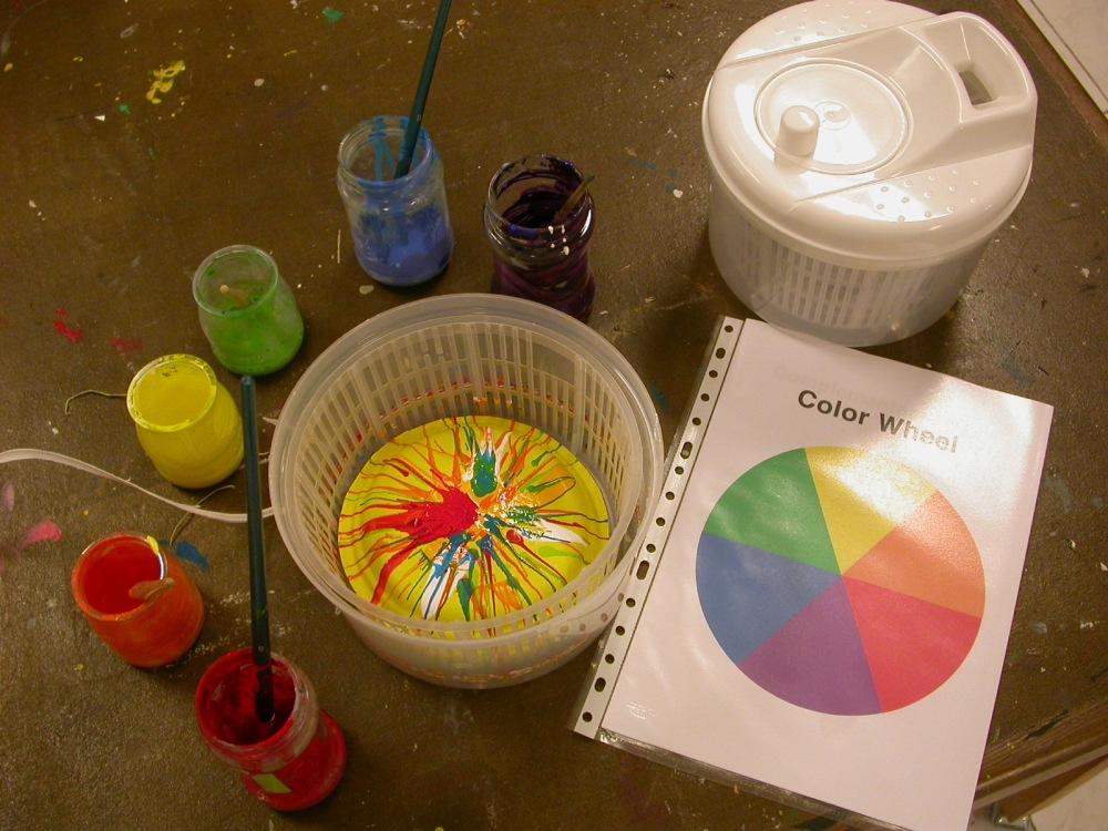 Círculo cromático y pintura centrifugada (1/6)
