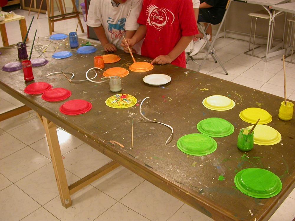 Círculo cromático y pintura centrifugada (2/6)