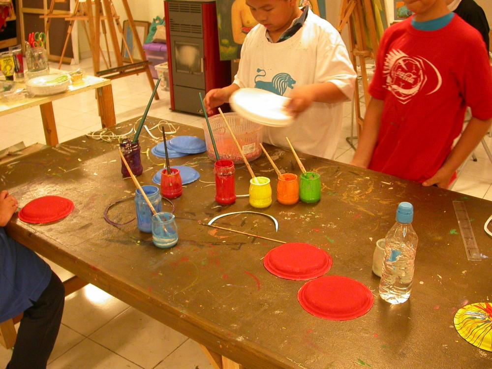 Círculo cromático y pintura centrifugada (5/6)
